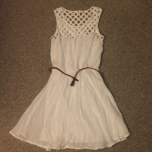 Whites dress w/ belt